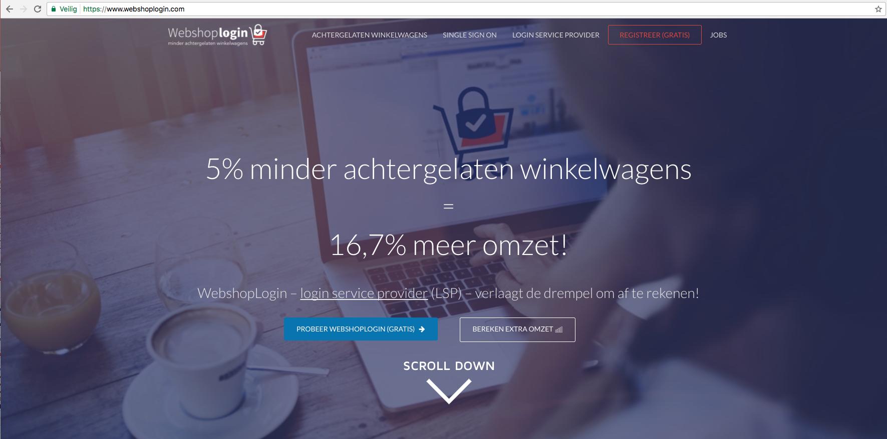 WebshopLogin – 1 account voor webwinkels